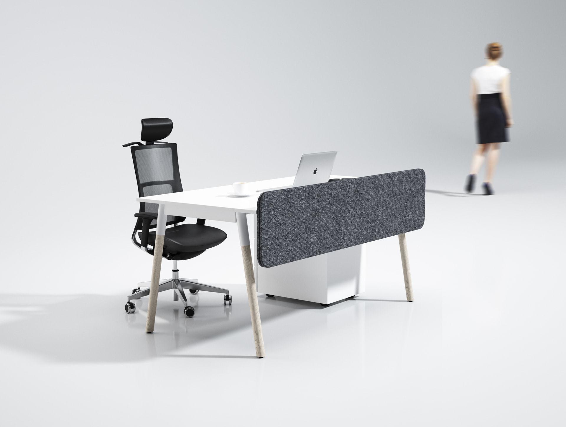 nábytok od my dva: kancelársky stôl DANCE: stôl pre jedného s paravánom